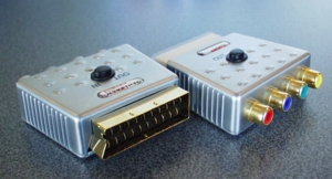 Adapter Scart SVHS 3x Cinch IN//Out vergoldet      #m223